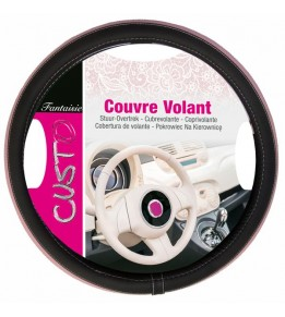 Couvre volant insert rose