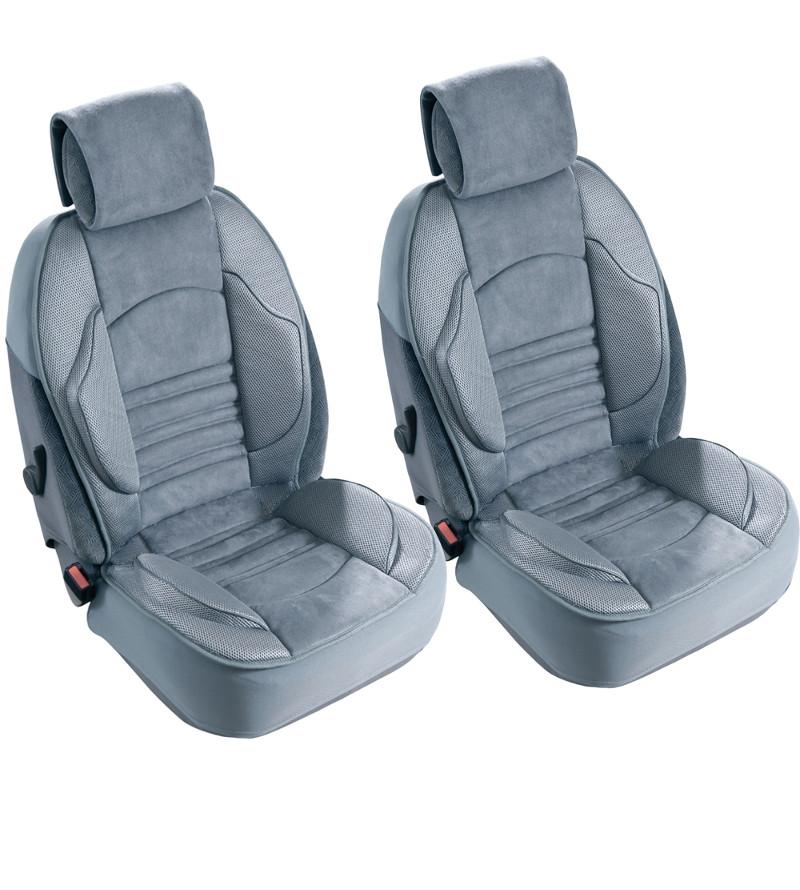 Lot de 2 Couvre sièges Grand confort Gris