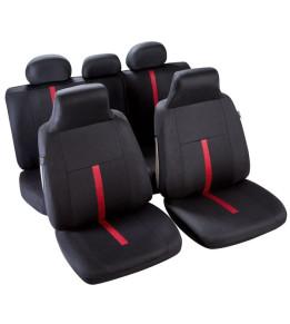 Housses sièges Macao Noir / Rouge T3