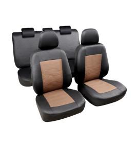 Housses sièges Sapa Noir / Marron