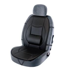 Couvre-siège Slide noir similicuir