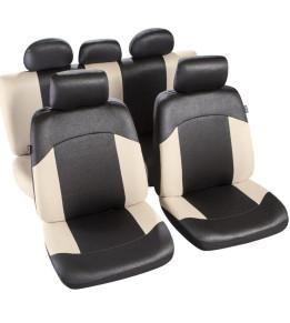 Housses de sièges avants et banquette - Morzine Noir/Ecru