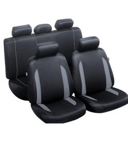 Housses de sièges avants et banquette - Combloux Noir/Gris