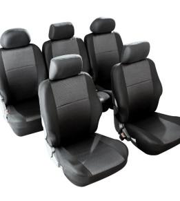 Housses de sièges avants et arrières pour Monospace - Morillon Noir