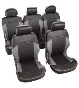 Housses de sièges avants et arrières pour Monospace - Helios Noir/Gris